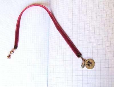 fairie velvet bookmark stainless