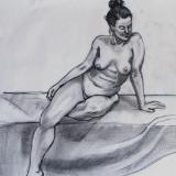 Rachel, Seated Nude