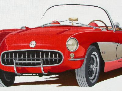 "Corvette   24""x12"""