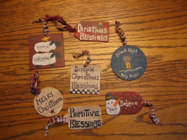 primitive christmas tags - Primitive Christmas