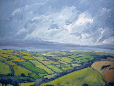 Winter skies on Winsford Hill, Exmoor