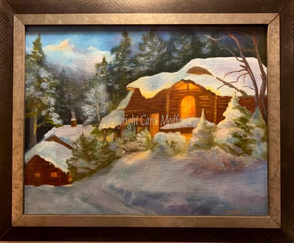 """Winter Majesty, Oil, 14"""" x 11"""", NFS"""