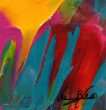 Penetration, abstract painting at Art Stash-Norma Brinker, Art