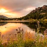 Lily Lake Fiery Sunset
