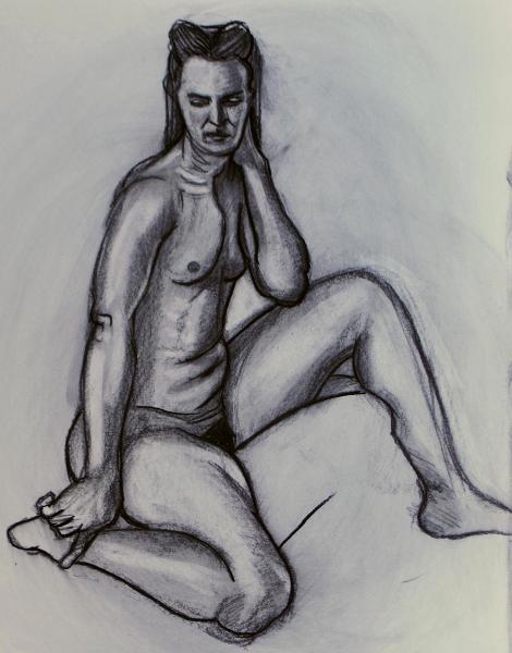 Sonia, Seated Nude