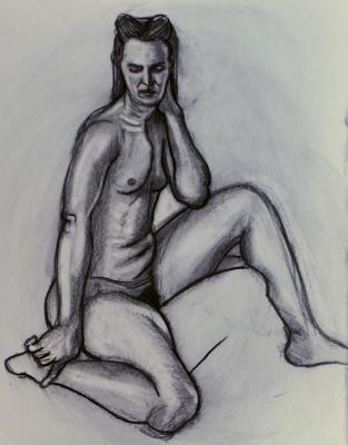 Sonia, Seated Nude