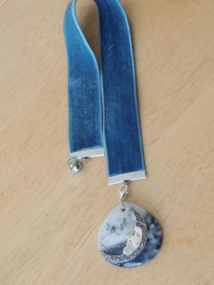 velvet bookmark sterling marcasite moon