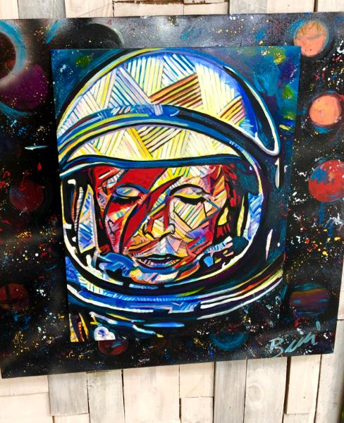 David Bowie in outer space