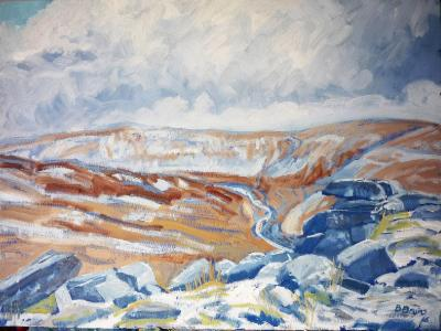 Winter at Tavy Cleave, Dartmoor
