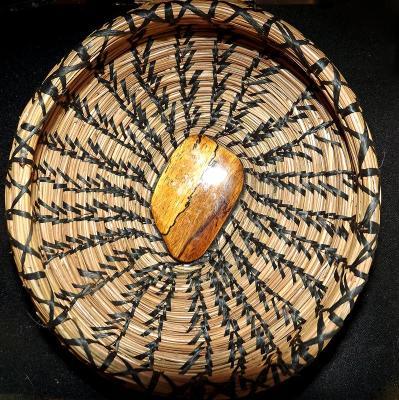 Basket with Walnut Inclusion