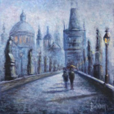 Wet Day on the Charles Bridge SOLD