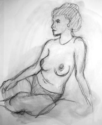 Sosha, Seated Nude