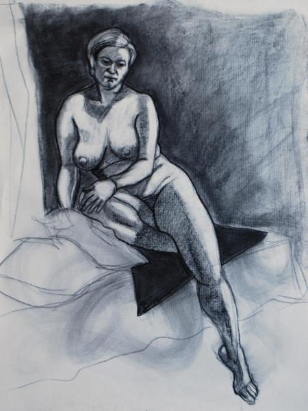 Signe, Seated, Nude