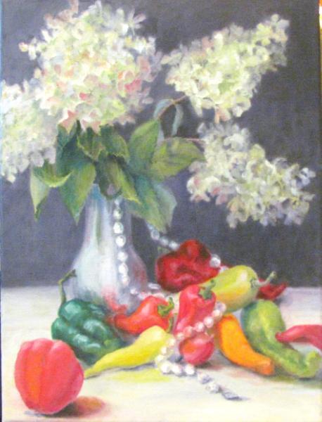 Peppers, Pearls and PeeGees (Hydrangeas)