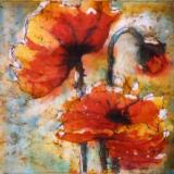 Poppies Watercolor Batik