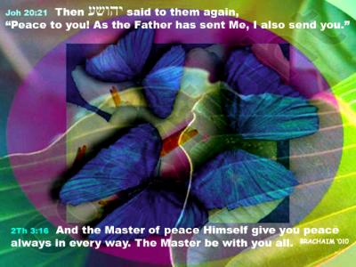 John 20:21&Thes. 3:16