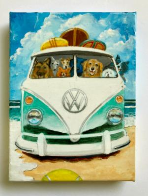 BUSLOAD OF DOGS GO TO THE BEACH