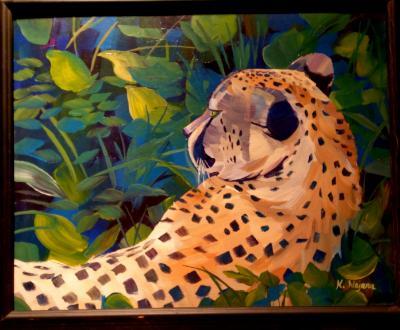 Zoo Cheetah at Rest