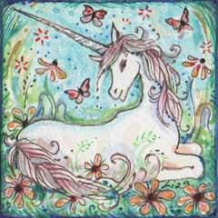 Little Unicorn art print fantasy art unicorn picture