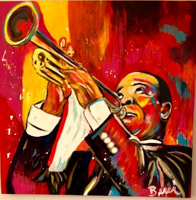 Satchmo in pink