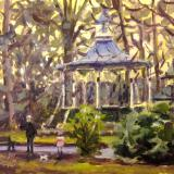 Autumn sunset by the Bandstand, Old Town Gardens
