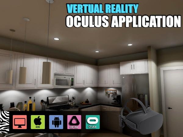Interactive virtual reality apps development Kitchen Design for
