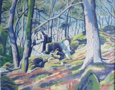 The Dewerstones in early spring, Dartmoor