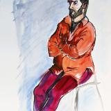 James, Seated