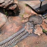 Cratered tracks