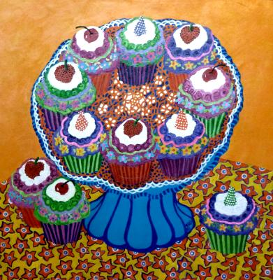 Complementary Cupcake Platter