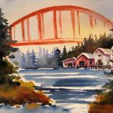 Rainbow Bridge in La Conner