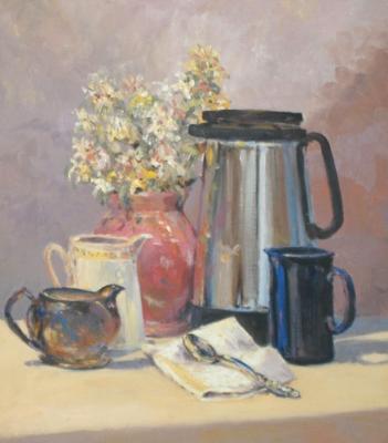 Study Still life with coffeepot