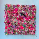 Pink Square Unframed
