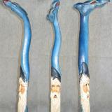 Blue Dragon Wizard walking stick