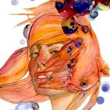 Fishgirl - Watercolour & Digital