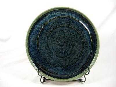 110511.B Medium Platter with Spiral Hatch Design