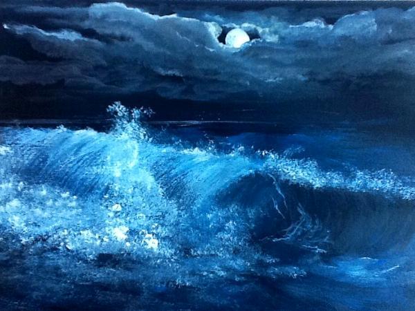 """""""Waves under Moonlight"""", waves series"""