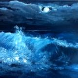 """Waves under Moonlight"", waves series"