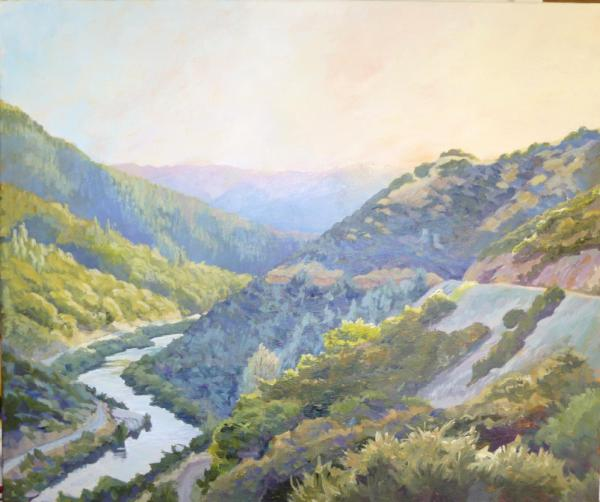 American River Canyon at Sunset