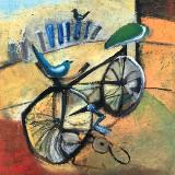"Broken Bicycle  18""x18"""