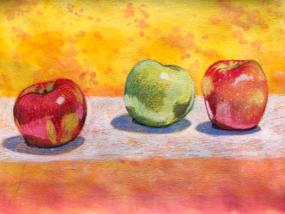 Three Apples (Pastel)