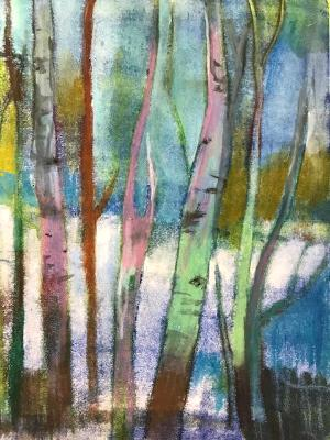 Birches abstract #3