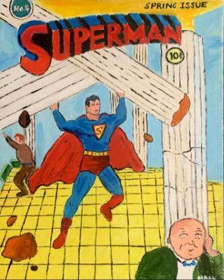 Superman Comic Cover #4 1940