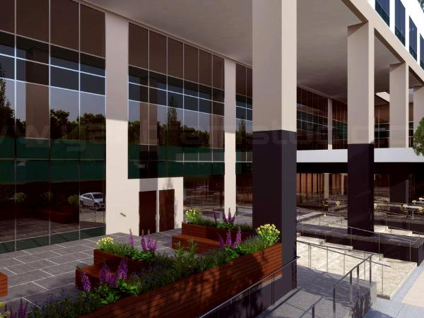 3D Spacious Building Exterior Design