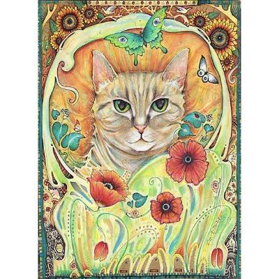 """Poppy Cat"" greeting card"