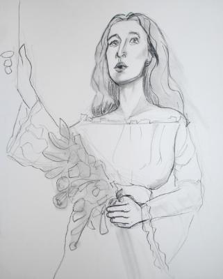 Elka, Holding Flowers