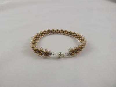 B-52 gold & silver woven bracelet