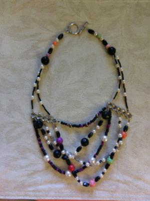 4 strand mixed bead necklace
