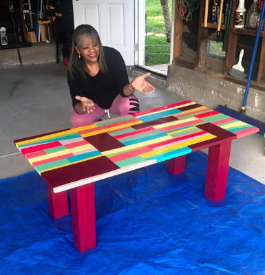 Contemporary Art Coffee Table