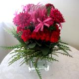 glass container natural arrangement